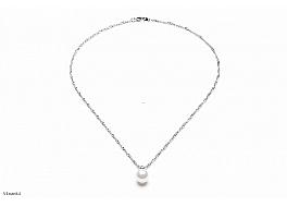 Naszyjnik z perłą shell wielkości 10mm w kolorze białym