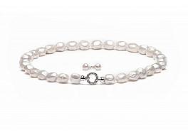 Komplet: Naszyjnik z kolczykami, perła biała słodkowodna hodowana, barok, 12-17mm