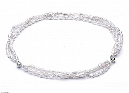 Naszyjnik z bransoletą z pereł hodowanych, słodkowodnych, białych, nieregularnych, zapięcie srebrne rodowane,magnetyczne,możliwość łączenia bransolety z naszyjnikiem