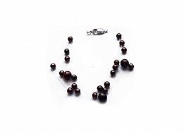 """Bransoleta """"pajęczynka"""" 5 żyłek, perły brązowe hodowane, słodkowodne okrągłe 3-7mm, zapięcie srebrne"""