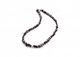 Naszyjnik, perły brązowe hodowane, słodkowodne 5.5-6mm, zapięcie srebrne