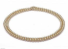"""Naszyjnik typu """"opera"""", perły shell okrągłe 8mm o kolorze złotym 120cm"""