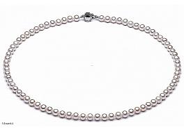 Naszyjnik z pereł 6-6,5mm. Zapięcie srebrne rodowane