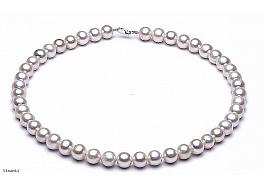 Naszyjnik, perły białe okrągłe hodowane, słodkowodne 11-11,5mm, zapięcie srebrne