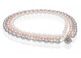 Naszyjnik,perły słodkowodne,hodowane 9-12mm,zapięcie posrebrzane