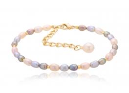 Bransoleta,perły słodkowodne,hodowane 4,5-5mm multicolor