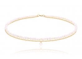 Naszyjnik,perła biała słodkowodna,hodowana,6mm barok