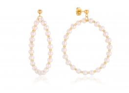 Kolczyki z białych pereł słodkowodnych,hodowanych 4,5-5mm
