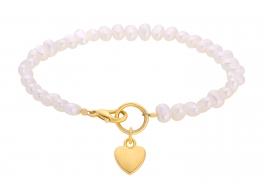 Bransoleta, perły słodkowodne, hodowane,białe 5-5,5 mm