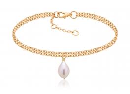 Bransoleta z perłą słodkowodną,hodowaną 10mm