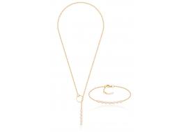 Komplet-naszyjnik z bransoletą,perły słodkowodne,hodowane 4-4,5mm