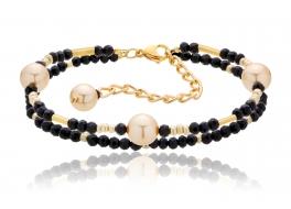 Bransoleta,perły shell 8m,kryształki